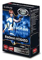 "Видеокарта Sapphire HD6450 1 GB GDDR3 (11190-02) ""Over-Stock"""