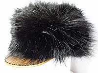 Женская меховая кепка с козырьком
