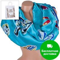 Женский атласный шарф 180 на 70 см ETERNO (ЭТЕРНО) ES1908-14-5