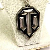 Брелок для ключей World of Tanks, оригинальный брелок, металлический брелок с логотипом игры