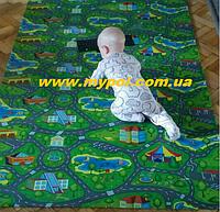 Детский коврик Городок , Киндер пол, Дороги теплый 1.1*2м