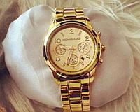 Стильные наручные женские Michael Kors, женские золотые часы, часы кварцевые, часы michael kors копия