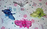 Зажим (прищепка) для стеблей  и цветоносов Бабочка большая, фото 1