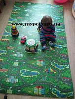 Детский коврик игровой, развивающий коврик Городок, Дороги , Киндер пол  1,5х1,1м