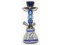 Кальян на 1 трубку MK-50-3-6 (синий), курительный кальян 25,5 см