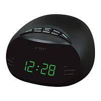 Настольные часы от сети с зеленой подсветкой 901-2, электронные радиочасы, часы сетевые настольные VST?