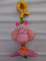 Игрушка-подвеска бабочка на цветке