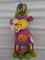 Игрушка-подвеска корова с цветком
