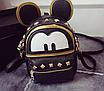 Рюкзак жіночий трансформер Mickey Mouse з вушками Чорний, фото 5