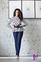 Костюм двойка: блуза с перекрутом и классические брюки   (размеры 48-54 )0037-80