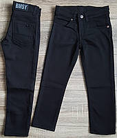 Штаны,джинсы на флисе для мальчика 110-116 см(черные) пр.Турция