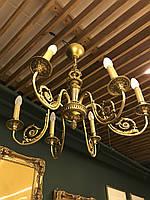 Люстра бронзированная латунь,6 свечей., фото 1