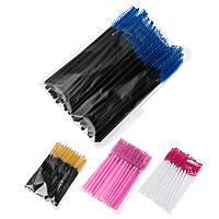 Щеточки для ресниц и бровей нейлоновые- 50 шт упаковка