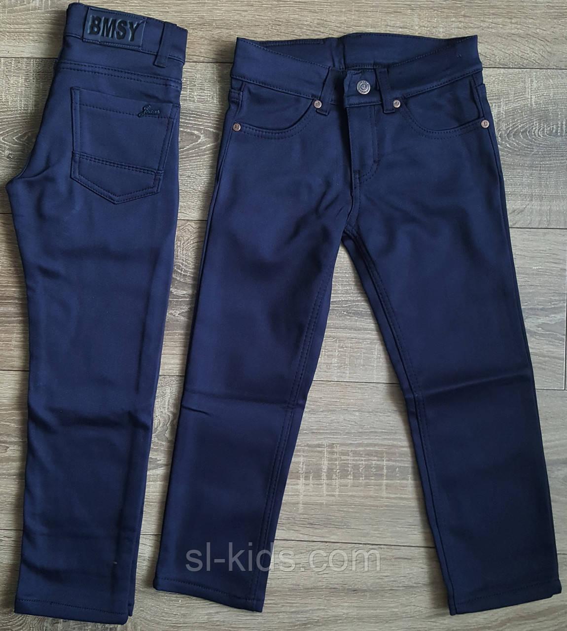 Штани,джинси на флісі для хлопчика 7-8 років (темно сині) (опт) пр. Туреччина