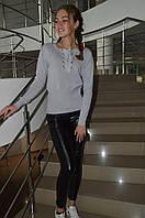 Женская кофта свитшот со шнуровкой Турция
