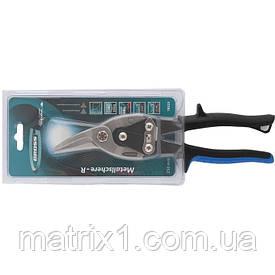 """Ножиці по металу """"PIRANHA"""",250мм,прямий і правий рез,сталь-СгМо,,двухкомп.рук-ки// GROSS"""