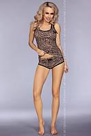 Леопардовая вискозная пижама 736/IV от Cofashion (Польша)