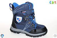 Синие термо-ботинки для мальчика р(37-23см)
