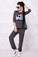 """Спортивный костюм """"Reveal fashion"""" темно-серый, фото 1"""