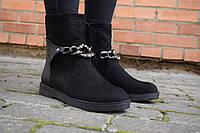 Ботинки женские замшевые демисезонные
