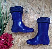 Резиновые сапоги Глянец  Утепленные синий 41р