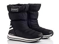 Черные термо-ботинки для мальчика р 36-41