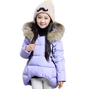 Детские зимние куртки для девочек оптом
