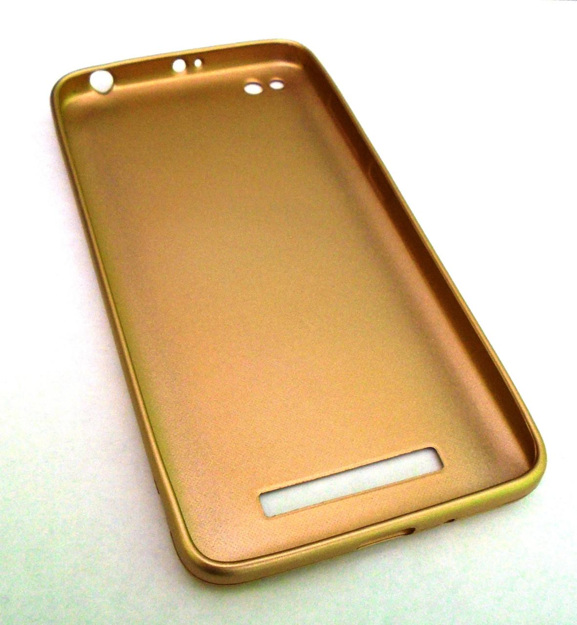 Чехол ба TPU Xiaomi Redmi 4A Gold Золотой