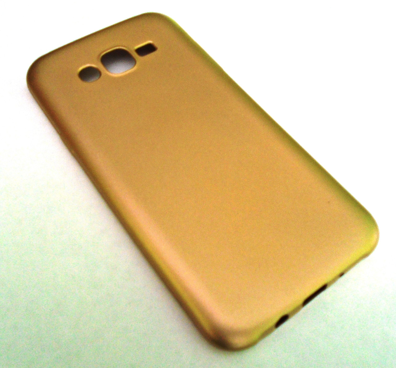 Чехол бампер softcase Samsung J700 J7 J700F Gold