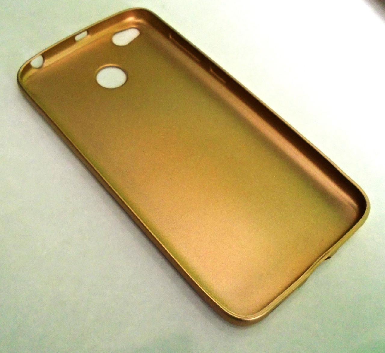 Чехол бампер softcase Xiaomi Redmi 4X Gold
