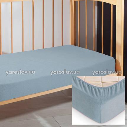 Простынь на резинке махровая, 60х120х10 см, фото 2