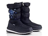 Зимние стильные синие женские дутики р39