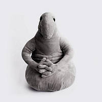 "Мягкая игрушка ""Ждун"" серый 45 см"