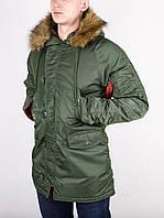 Мужская зимняя парка Chameleon - Аляска N-3B, Slim Fit, Olive