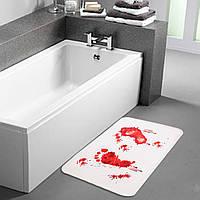 Коврик для ванной «Следы крови»!