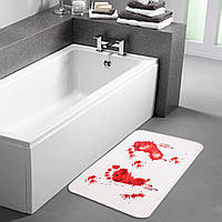 Коврик для ванной «Следы крови»!, фото 1