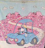 Плед одеяло для новорожденного Машинка
