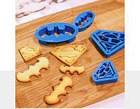 Форма для печенья: Знаки Супермена и Бэтмена!, фото 1