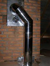 Коліно 45 неіржавіюча сталь 0,8 мм AISI 304, фото 3