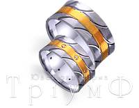 Обручальные кольца из золота 4521026 и 4511026