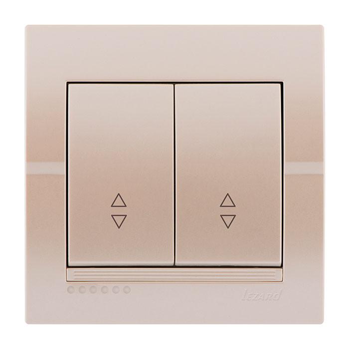 Выключатель Lezard Deriy Жемчужно-белый металлик 702-3030-106