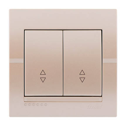 Выключатель Lezard Deriy Жемчужно-белый металлик 702-3030-106, фото 2
