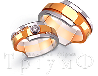 Обручальные кольца из золота 4521018 и 4511018