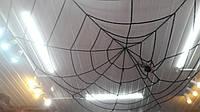 Паутина черная на потолок 4,5 м - декор на Хэллоуин