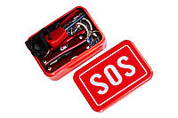 Универсальный набор охотника или рыбака для спасения SOS. Мультитул, пилочка, фонарь, компас, огниво, свисток.
