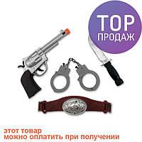 Набор Ковбоя большой (пистолет, нож, наручники, пояс) / тематические вечеринки