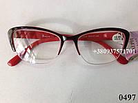 Женские очки. Модель 0497 красные, фото 1