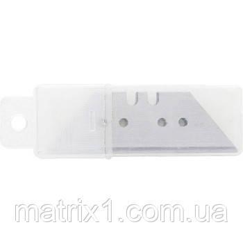 Лезвия,18 мм,трапециевидные,прямые,5 штук// SPARTA