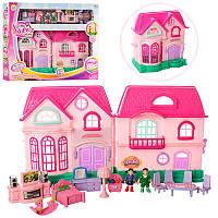 Домик для кукол интерактивный с мебелью 16526D