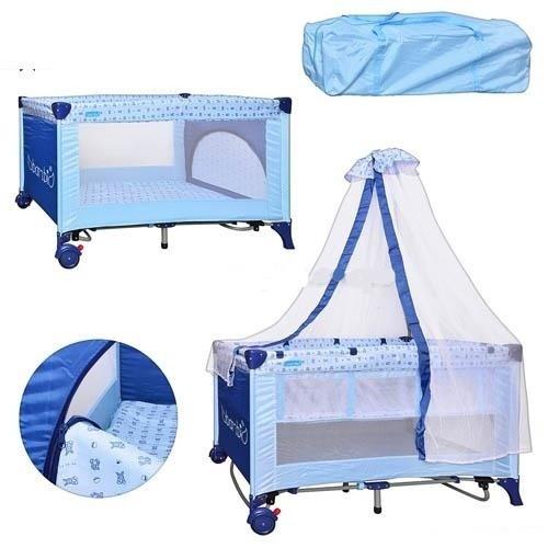 Манеж-кровать M 0823 на колесиках